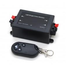 Диммер для светодиодной ленты 8А с брелком 3 кнопки (радио)