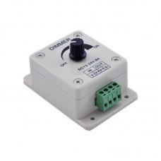 Диммер для светодиодной ленты 8А с потенциометром накладной
