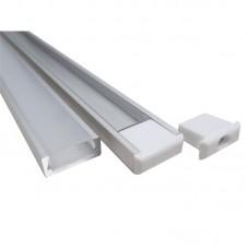 Накладной алюминиевый профиль 15х6 мм