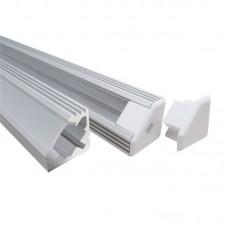 Угловой алюминиевый профиль 19х19 мм